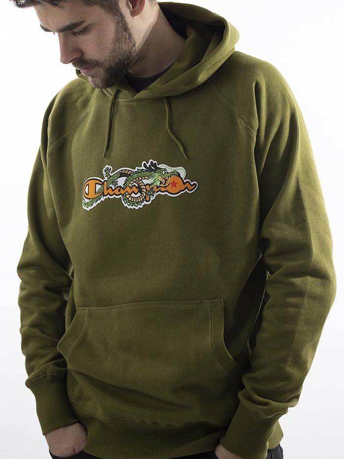 Dragonball Shenron Champion Hoodie Green 1