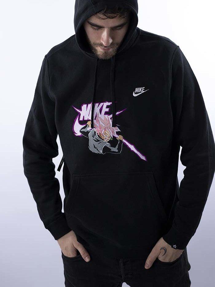 Rose Goku Nike Hoodie Black 1