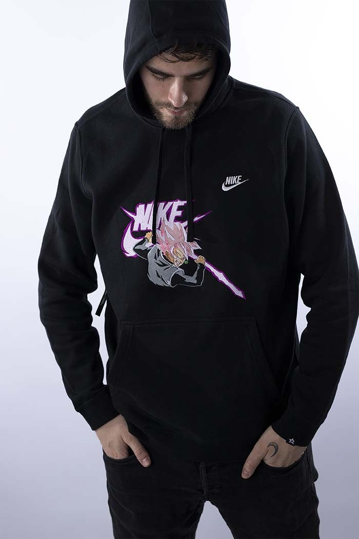 atómico Pico motor  Goku Rose Embroidered Nike® Hoodie - ReskDstroy