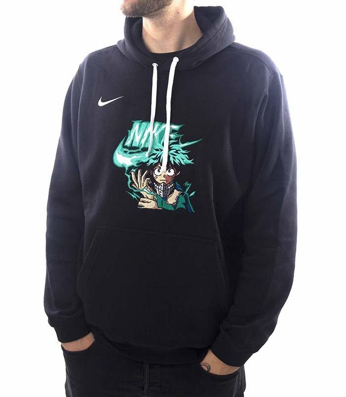 Todoroki Deku Nike Black Hoodie 1