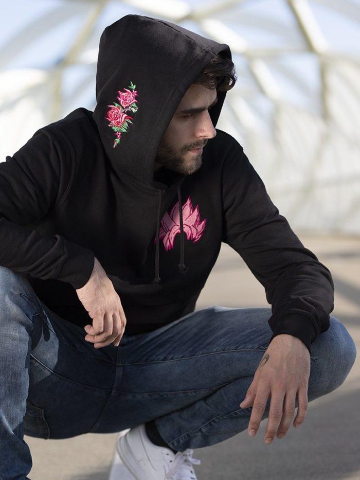 Goku rose hoodie flower 1